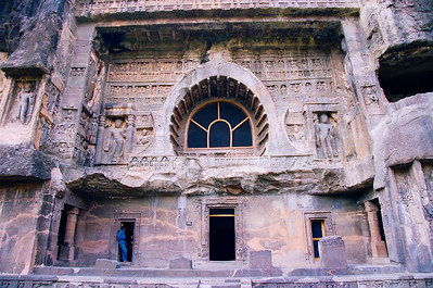Vihara entrance, Ajanta