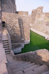 Moat around the Daulatabad Fort