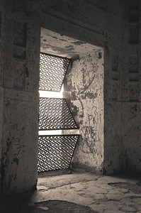 Fort window with old style grill, Daulatabad