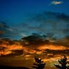 Sunset over Upper Arlington, Ohio on Labor Day 2012 (enhanced for dramatic effect)