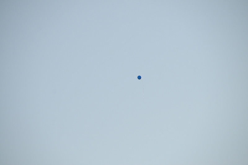 The only balloon that took off.