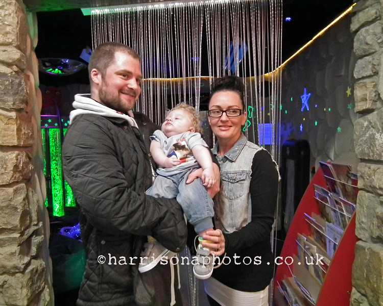 The Cookson family at the Alan Shearer Foundation at St. Cuthbert's Care, Newcastle