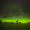 Aurora over the Gulf of Alaska