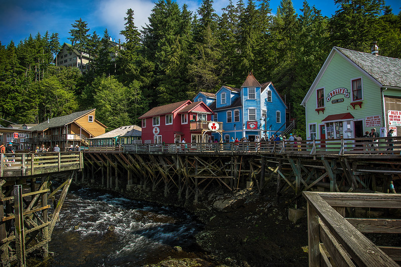 Downtown Ketchikan, August 10, 2017