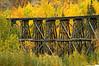 Old railroad trestle in Alaska