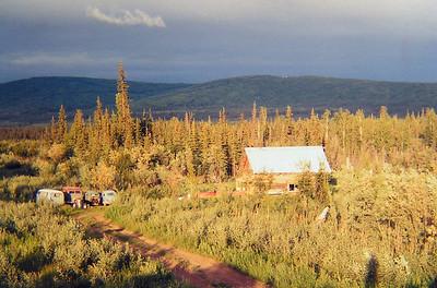 gold stream rd, fairbanks, Alaska, fall 1971