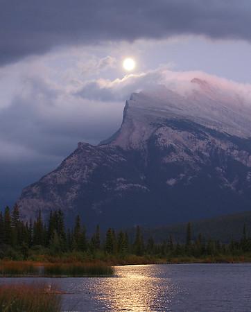 Mount Rundle Moon, Banff National Park, Alberta