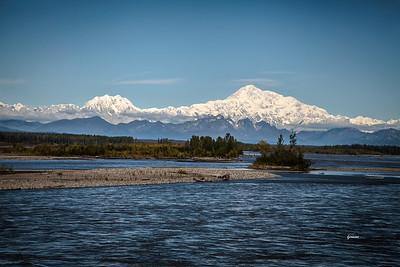 Denali ( known as Mckinley ) seen from Talkeetna Alaska