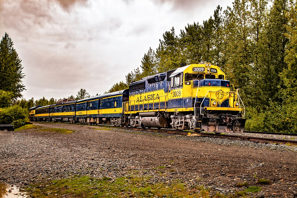 Alaska Railroad in Talkeena, Alaska