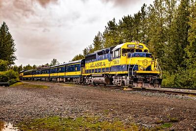 Alaska Railroad in Talkeena, Alaska