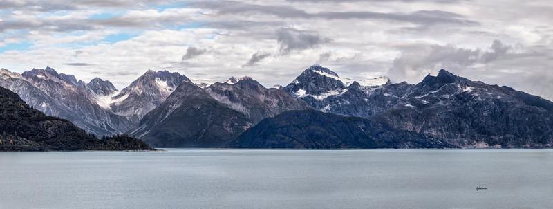 Panoramic View in Glacier Bay Alaska
