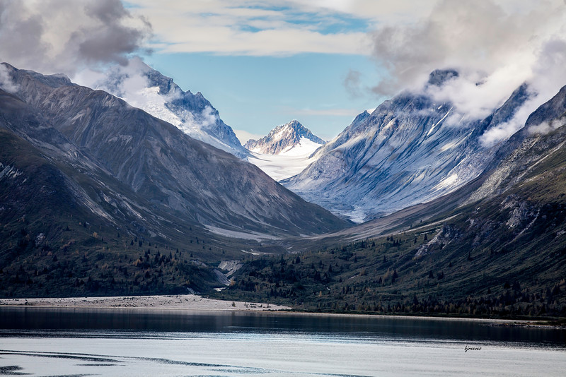 View in Glacier Bay Alaska