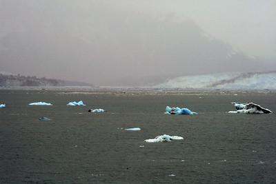 Hubbard and Valerie Glaciers in Disenchantment Bay, Alaska