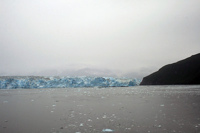 Hubbard Glacier and Russell Fiord in Disenchantment Bay, Alaska