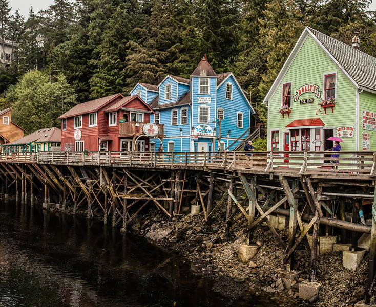 Historic Creek Street in Ketchikan, Alaska