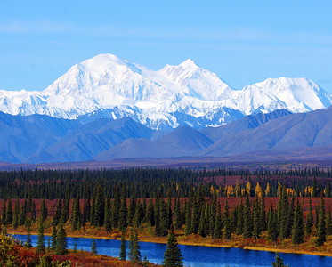 Denali from George Parks Highway,  Ak