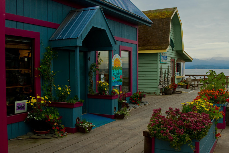 I had flower envy!  Homer Spit shops.<br /> Photo © Cindy Clark