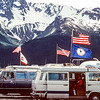 Campers at Seward, Alaska. Very popular during the summer months.