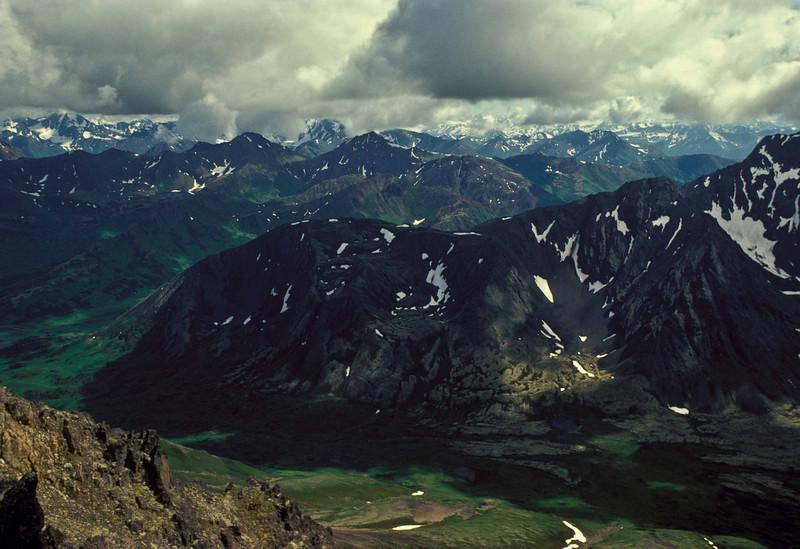 Summer hiking in the Chugach Mts.<br /> Photo © Carl Clark