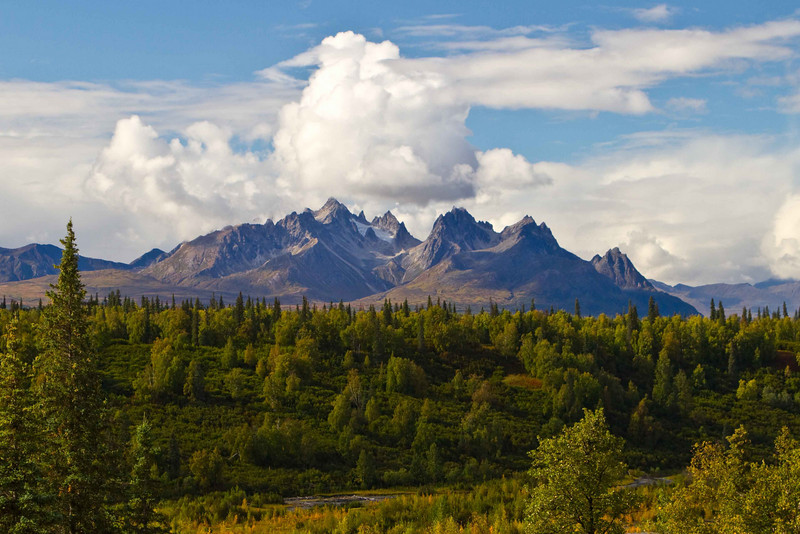 Tokosha Mts. near Denali.<br /> Photo © Carl Clark