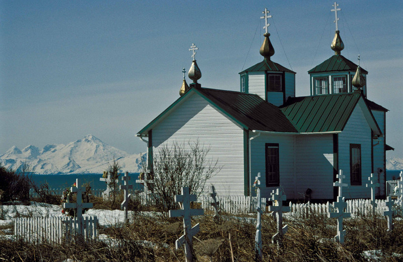 Russian Orthodox church in Ninilchik on the Kenai Peninsula.<br /> Photo © Carl Clark