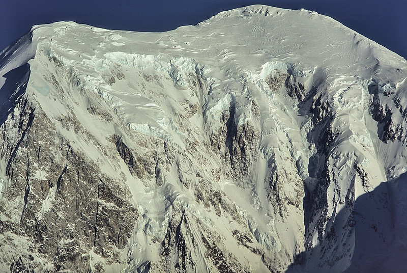 The magnificent east face of Sultana (Mt Foraker) in the Alaska Range.<br /> Photo © Carl Clark