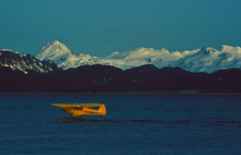 Air travel in Alaska - Haines.<br /> Photo © Carl Clark