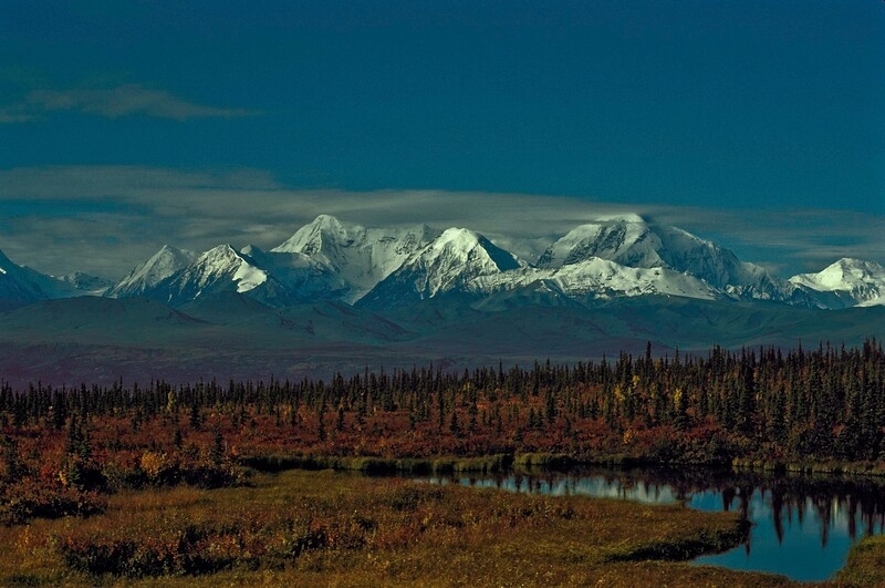 Autumn colors highlight the Hayes Range.<br /> Photo © Carl Clark