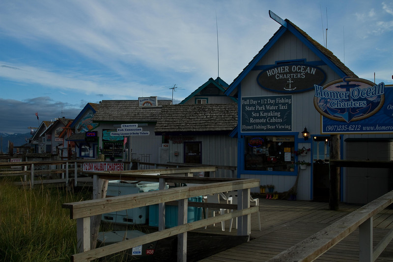 Lots of good fishing - and good seafood - on the Homer Spit.<br /> Photo © Cindy Clark