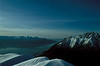 Turnagain Arm viewed from Bird Ridge - Chugach Mts.<br /> Photo © Carl Clark