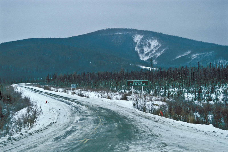 Entering Yukon Territory.  Middle of Nowhere!<br /> Photo © Carl Clark