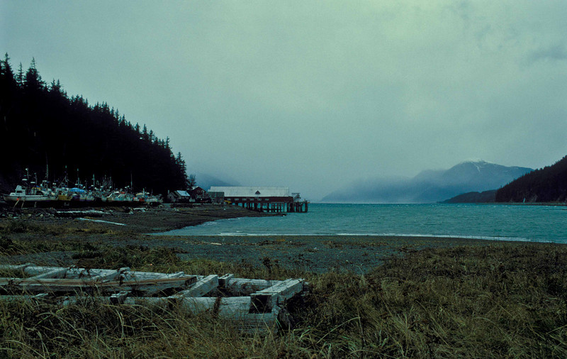 October snowstorm approaching Haines.<br /> Photo © Carl Clark