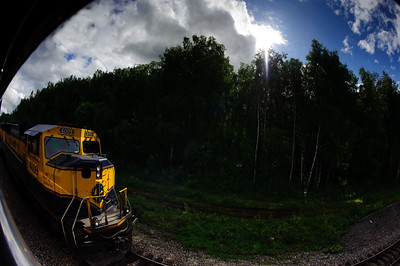 ALASKA RAILROAD FISHEYE
