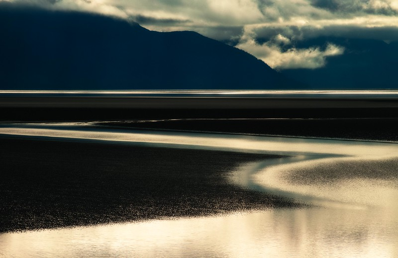 A haunting morning at Turnagain Arm as we made our way from Anchorage to Homer.<br /> Photo © Cindy Clark