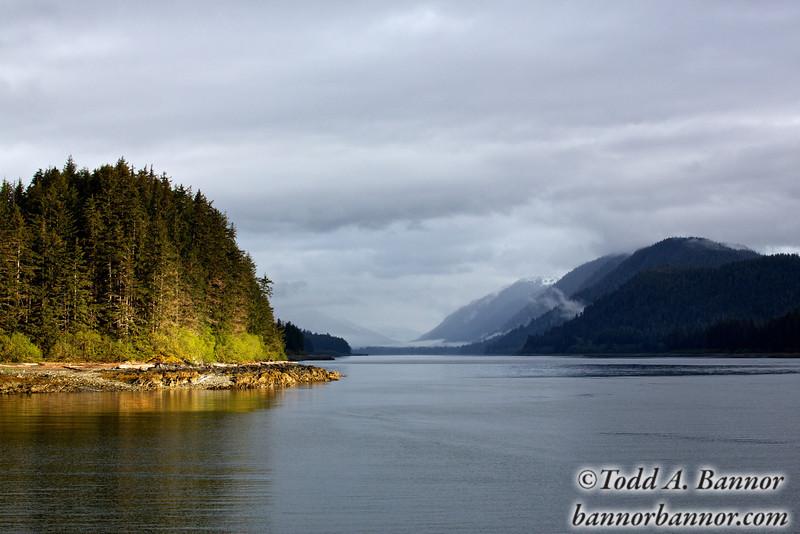 Morning on Sitkoh Bay, southeast Alaska.