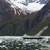 The Wilderness Discoverer heads back down the fjord.