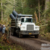 We hiked along an active logging road near Sitkoh Bay and had to dodge this road maintenance truck.