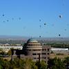 Balloon Fiesta in Albuquerque New Mexico from Hotel Room