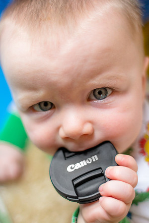 Leo Latches Onto Canon Lens Cap