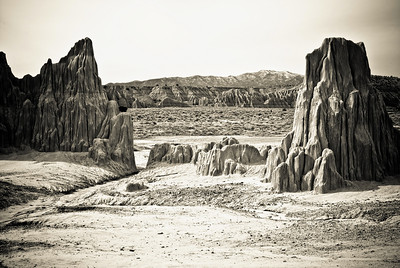 Landscape of Cathedral Gorge.