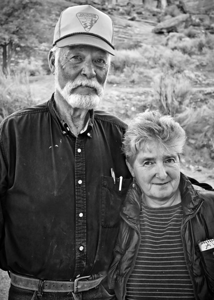 I had to photograph this couple because the gentleman looks strangely like Edward Abbey and it seemed so fitting that he was working for the BLM as a volunteer with his wife.