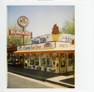 Hey guys, I thought it was appropriate to shoot Route 66 with instant film, for nostalgia. I took a lots of photos along this historic highway, so I will post more later when time allows. These are the first three Polaroids ever posted to Desert Dream...