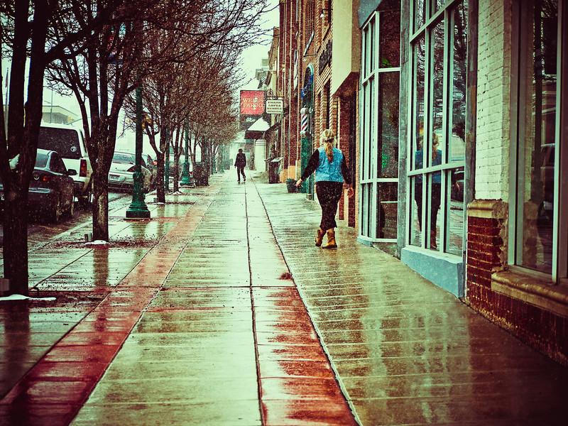 Early Wet Spring Morning in Cedar City, Utah