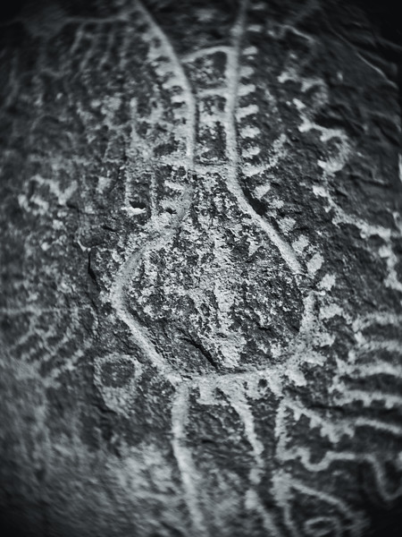 The Zipper Glyph at Parowan Gap, Southern Utah!
