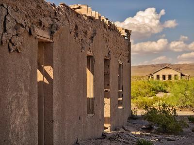 Ruins along the Rio Grand in Presidio, Texas