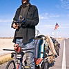 Tony had been on the road for over two weeks when we met him near the Great Salt Lake. He was headed for New Mexico and this was his second trip this year. Tony told us about his life and how his brother is also homeless. He hates the current system we live in because it is dysfunctional so he chooses to live this lifestyle. He was very thin due to the fact that he's journeyed all over the United States.