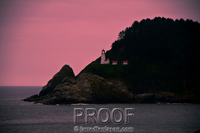 Evening at the Heceta Lighthouse