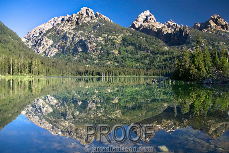 Grand Tetons Mountain Lake During the Early Morning