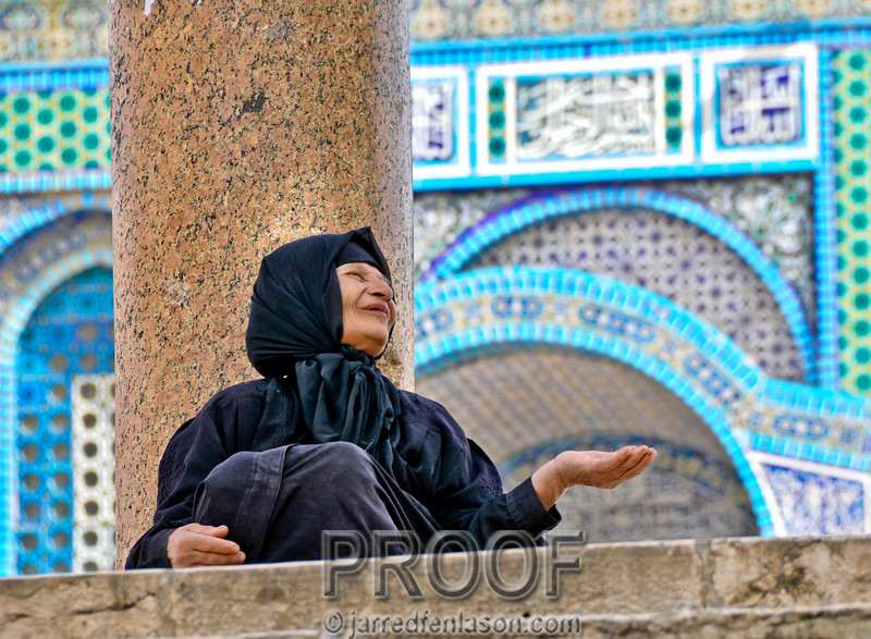 Beggar at the Temple Mount - Jerusalem