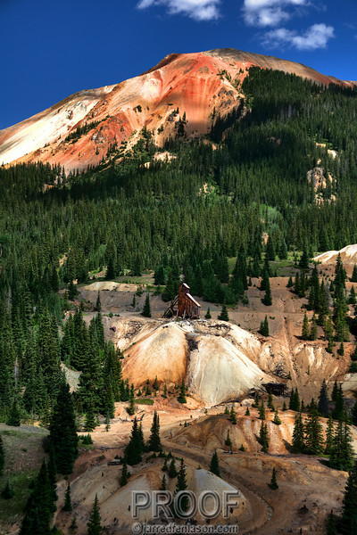 Idarado Mine Between Ouray and Silverton Colorado